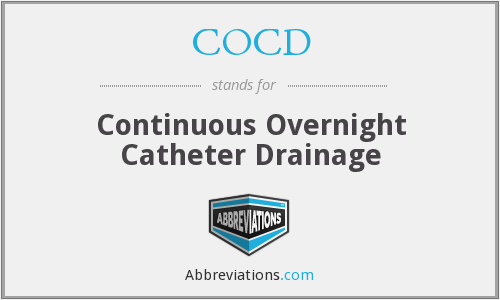 COCD - Continuous Overnight Catheter Drainage