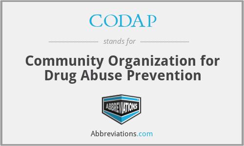 CODAP - Community Organization for Drug Abuse Prevention