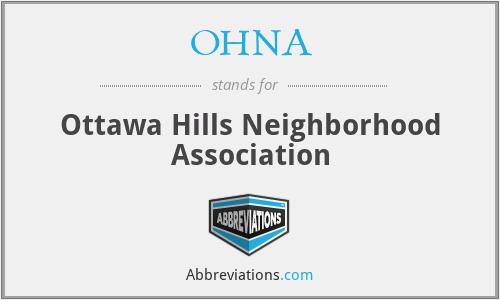 OHNA - Ottawa Hills Neighborhood Association