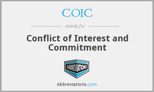 COIC - Conflict of Interest and Commitment