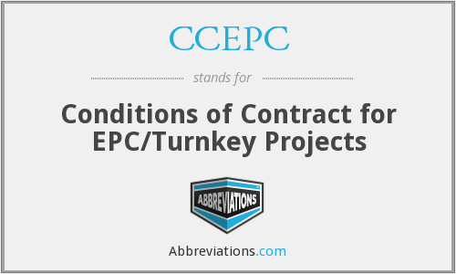 CCEPC - Conditions of Contract for EPC/Turnkey Projects