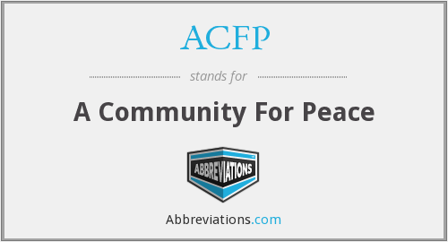 ACFP - A Community For Peace