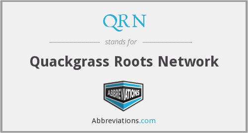 What does quackgrass stand for?