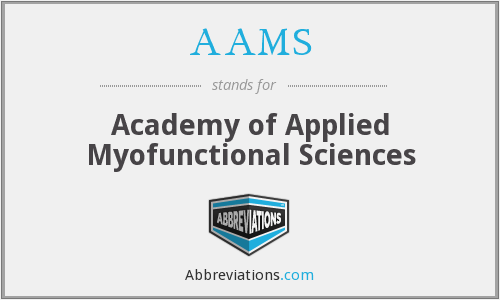 AAMS - Academy of Applied Myofunctional Sciences