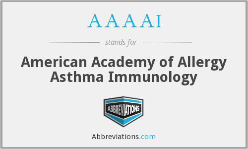 AAAAI - American Academy of Allergy Asthma Immunology