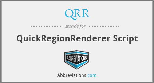 QRR - QuickRegionRenderer Script