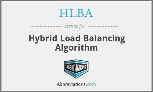 HLBA - Hybrid Load Balancing Algorithm