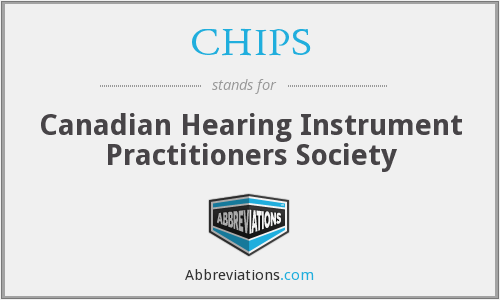 CHIPS - Canadian Hearing Instrument Practitioners Society