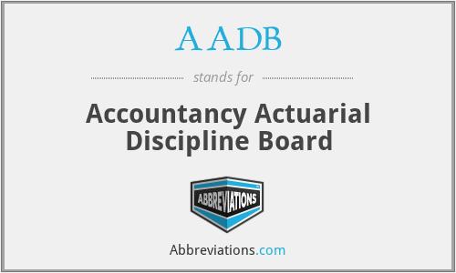 AADB - Accountancy Actuarial Discipline Board