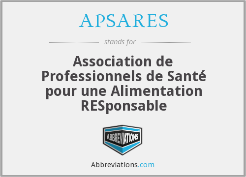 What does APSARES stand for?