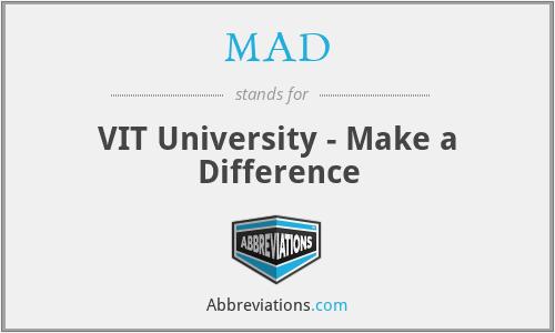 MAD - VIT University - Make a Difference