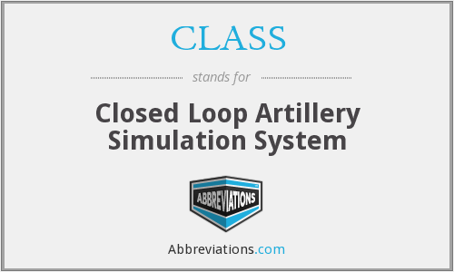 CLASS - Closed Loop Artillery Simulation System