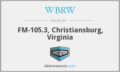WBRW - FM-105.3, Christiansburg, Virginia