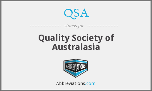 QSA - Quality Society of Australasia