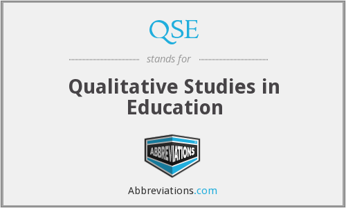 QSE - Qualitative Studies in Education