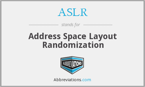 What does ASLR stand for?