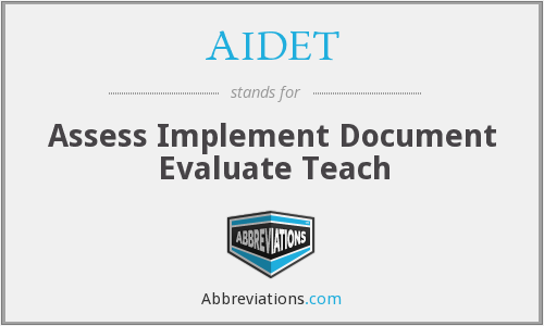AIDET - Assess Implement Document Evaluate Teach