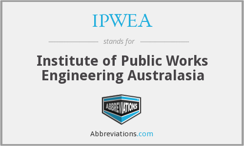 What does IPWEA stand for?