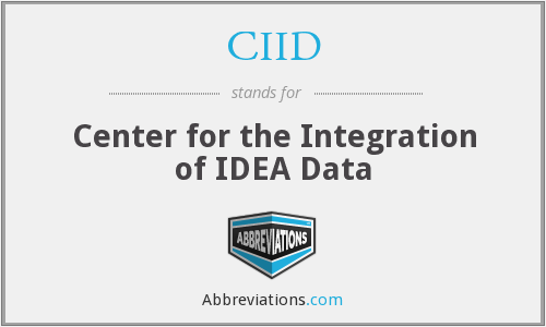 CIID - Center for the Integration of IDEA Data