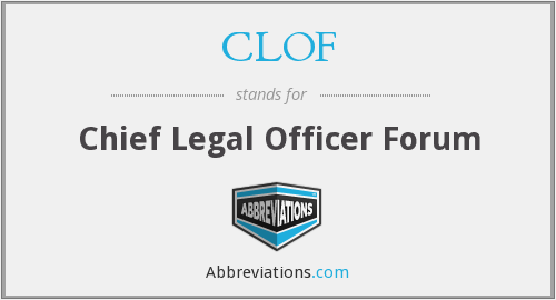 What does CLOF stand for?