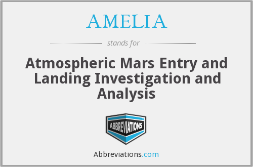 AMELIA - Atmospheric Mars Entry and Landing Investigation and Analysis