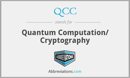 QCC - Quantum Computation/ Cryptography