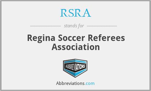 RSRA - Regina Soccer Referees Association