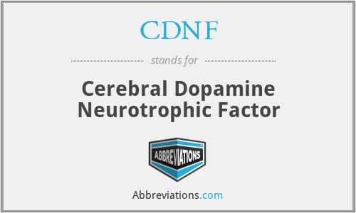 CDNF - Cerebral Dopamine Neurotrophic Factor