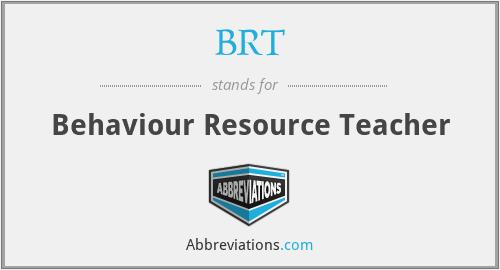 BRT - Behaviour Resource Teacher