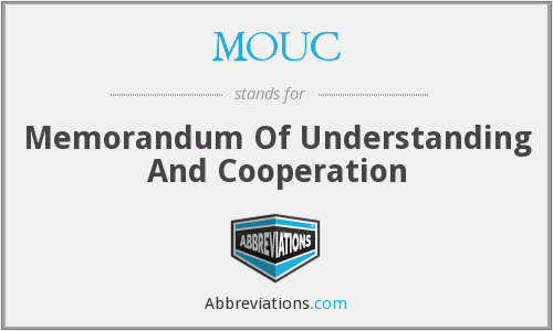 What does MOUC stand for?
