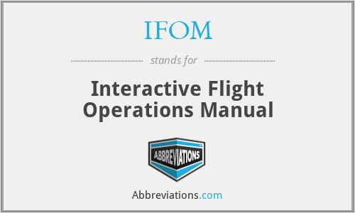 IFOM - Interactive Flight Operations Manual