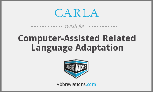 CARLA - Computer-Assisted Related Language Adaptation