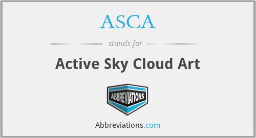 ASCA - Active Sky Cloud Art