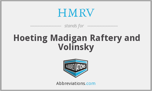 What does HMRV stand for?