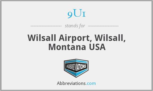 9U1 - Wilsall Airport, Wilsall, Montana USA