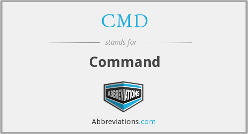 What does CMD stand for?