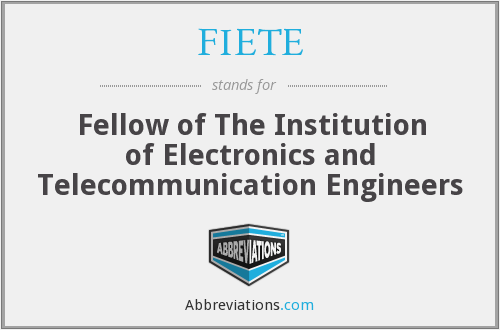 What does FIETE stand for?