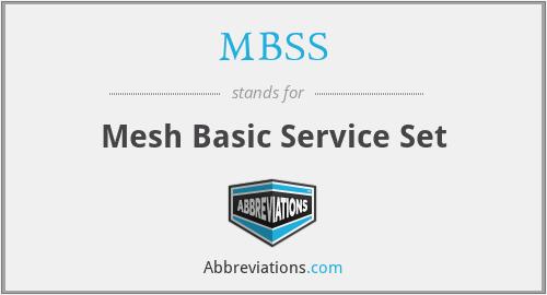 MBSS - Mesh Basic Service Set