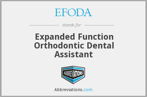 What does EFODA stand for?