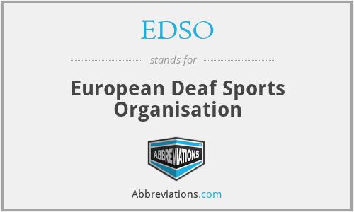 EDSO - European Deaf Sports Organisation