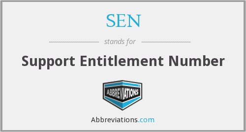 SEN - Support Entitlement Number