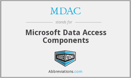 What does MDAC stand for?