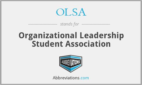 OLSA - Organizational Leadership Student Association