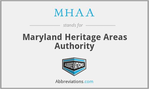 MHAA - Maryland Heritage Areas Authority