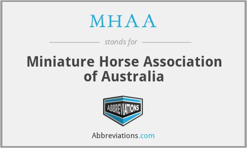 MHAA - Miniature Horse Association of Australia