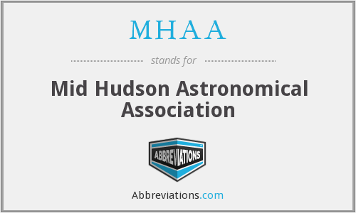 MHAA - Mid Hudson Astronomical Association