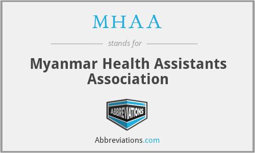 MHAA - Myanmar Health Assistants Association