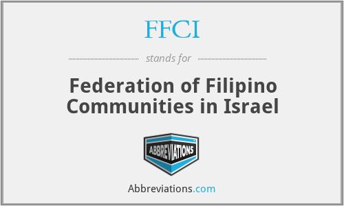 FFCI - Federation of Filipino Communities in Israel
