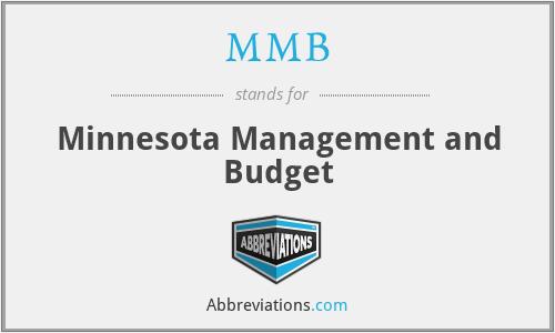 MMB - Minnesota Management and Budget