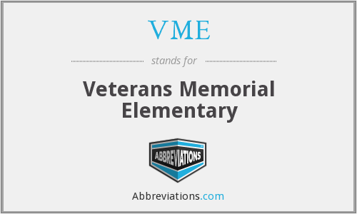 VME - Veterans Memorial Elementary